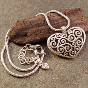 Brighton Swirl Heart Statement Pendant Necklace